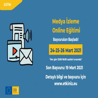 'İnsan Hakları için Medya İzleme' online eğitimi başvuruya açıldı